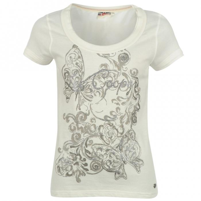 520625077 SHOPPER.sk | Lee Cooper dámske tričko s trblietkovým vzorom ...